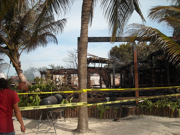 The backside of the resort facing the beach. This was the restaurant that faced the water