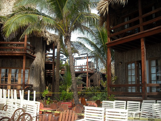 This section of the resort was saved solely by the efforts of the community and the water brigade