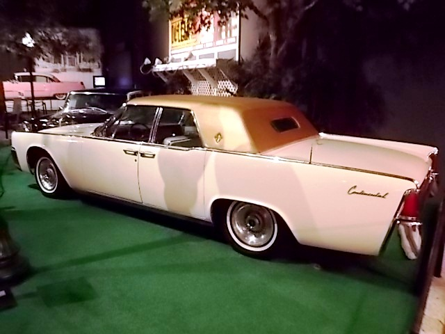 Elvis owned the custom painted pink Continental for approximately 5 years. The car had suicide doors and a gold padded roof. It diffidently made a statement.