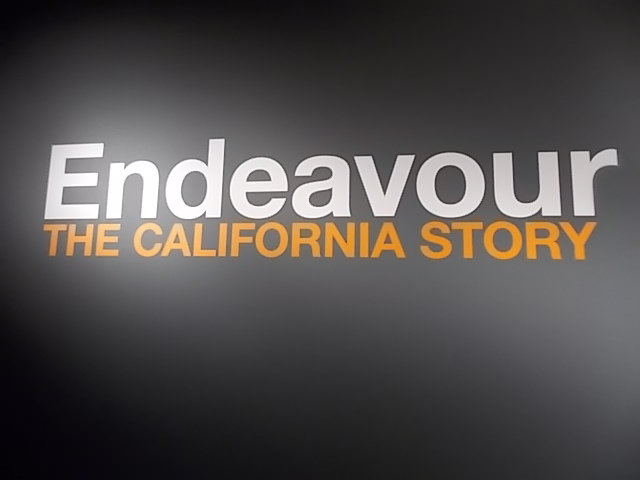 CA Science Cntr Endeavour Sign 1