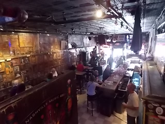 DT Nashville Tootsies Bar Inside Looking Down at Front Bar