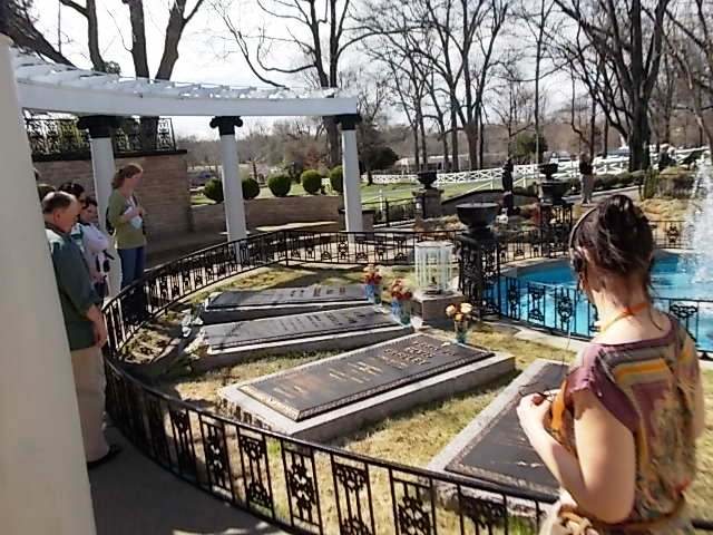 Elvis and his immediate family's gravesites.