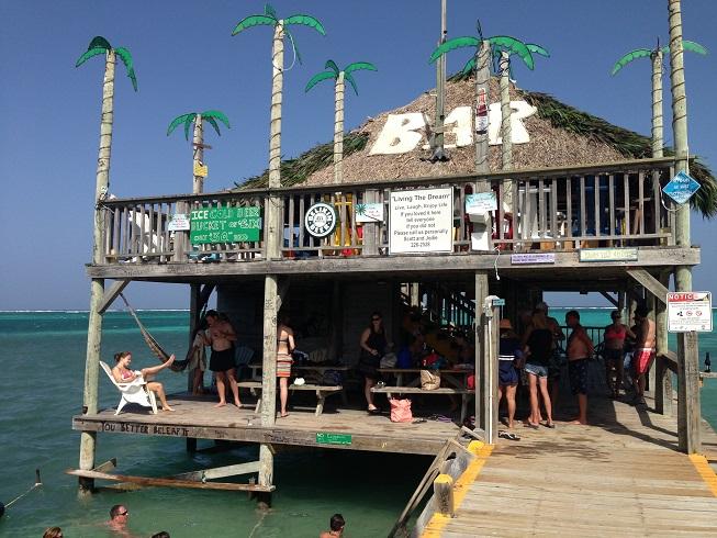 Belize Beach bar 1