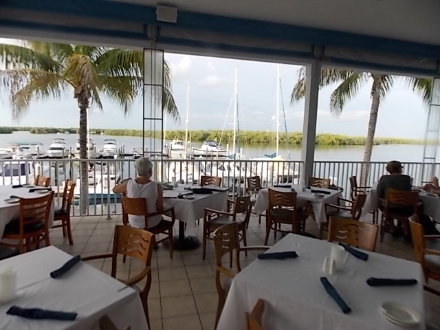Bayfront outside patio view