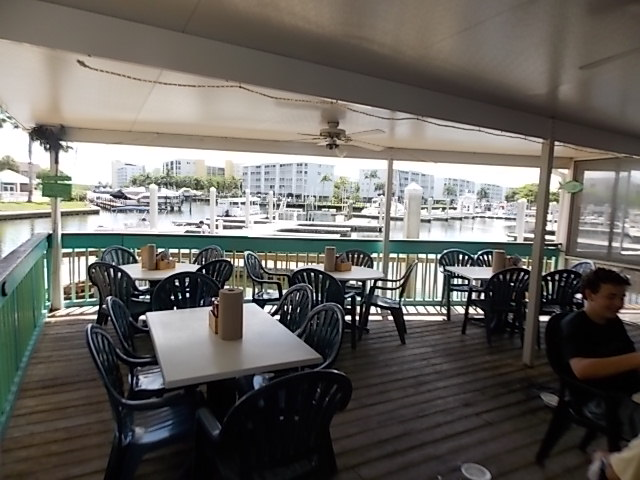 Fish house patio view