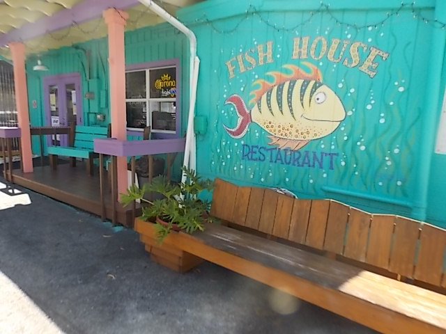 Fish house sign & building
