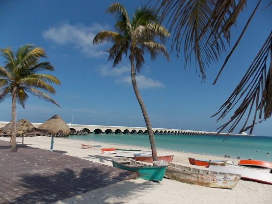 Progreso's Beach during AM walks