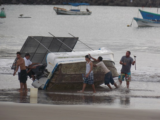 Boat Cleaning on Beach 1
