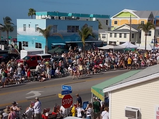 Ft Myers Beach Shrimp Festival Parada Route DT FMB 1
