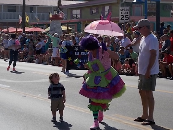 Street Clown and child