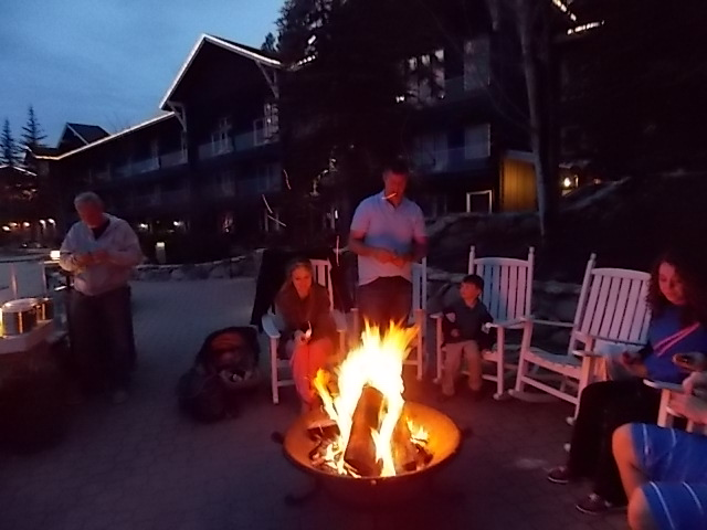 Shore Lodge Fire Pit Smores