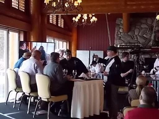 Shore Lodge Cook off Judges & Chef