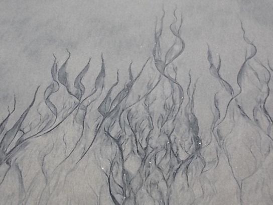 Beach sand markings 2