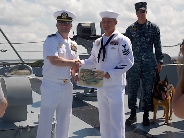 Onboard honorable discharge ceremony pic 2