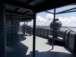 USS AL Tower deck