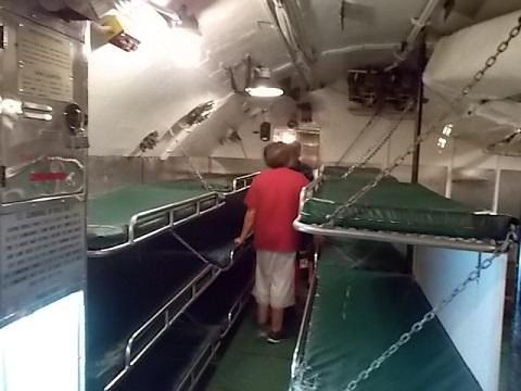 USS Drum Sub inside sleeping qrts