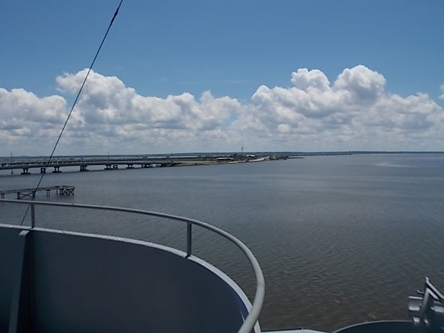 View from tower deck towards gulf