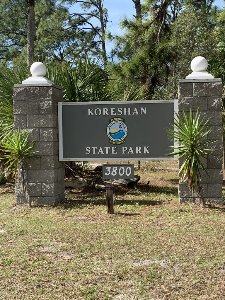 image of koreshan state park sign